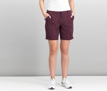 32 Degrees Women's Stretch Active Shorts, Burgundy