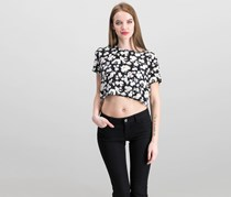 Mink Pink Womens Floral Top, Black Combo