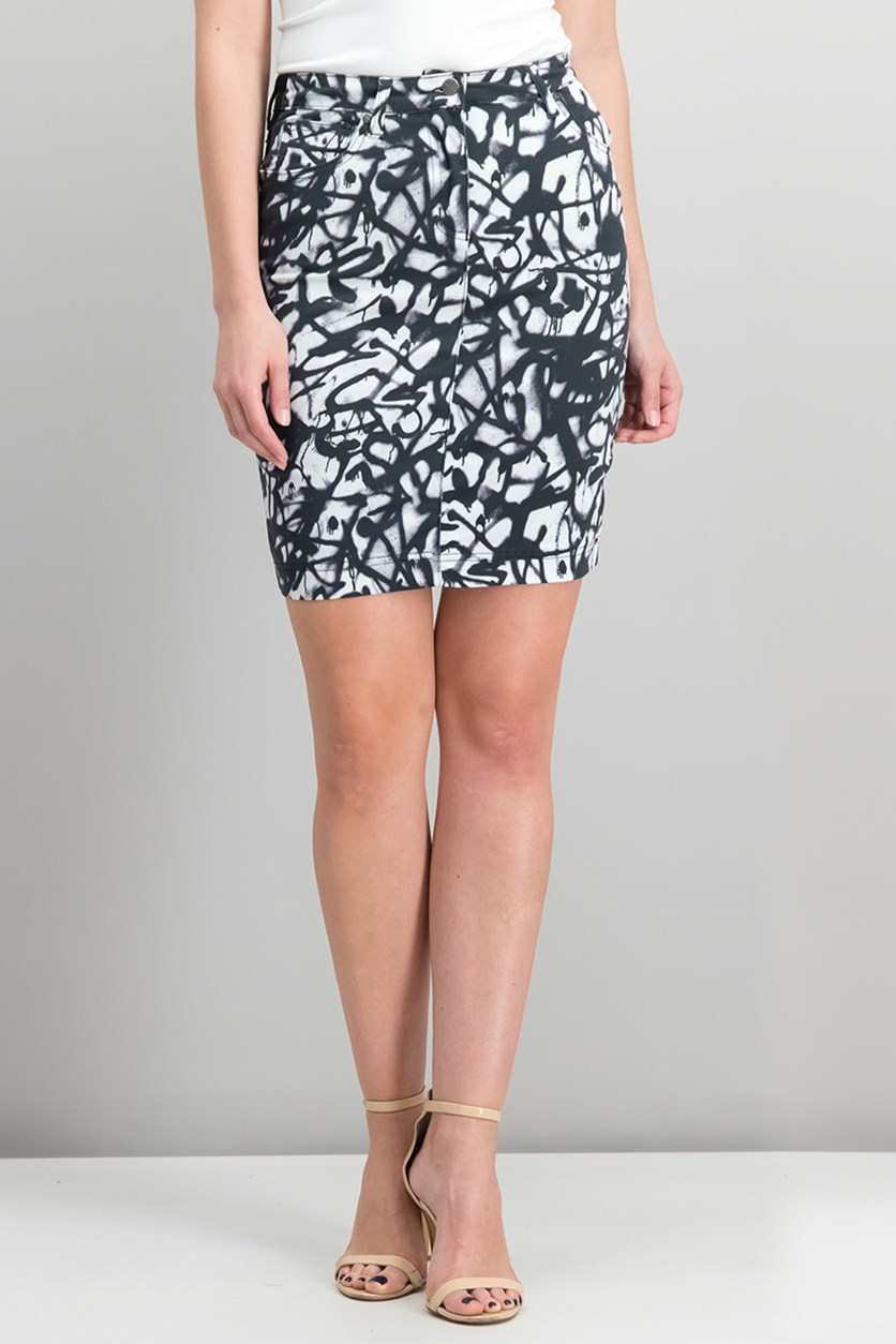 Womens Artelier Mini Skirt, Black