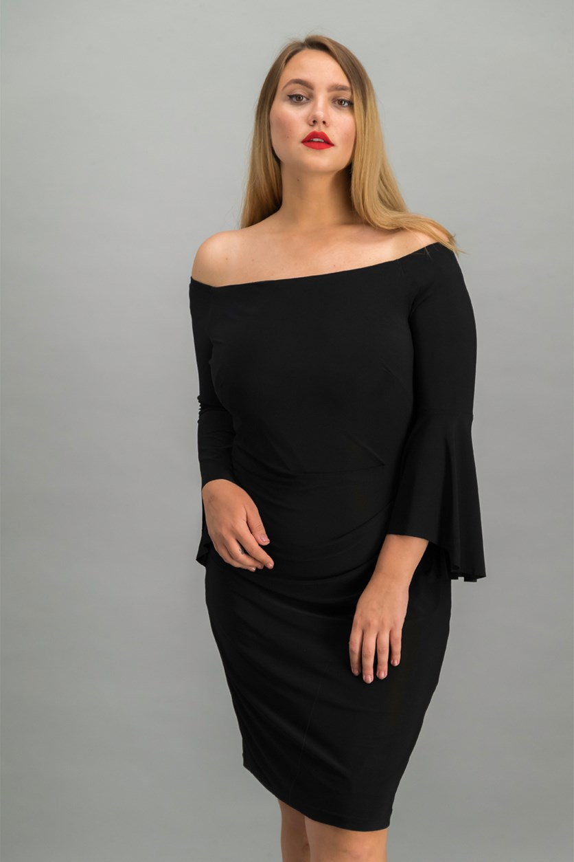 Women's Off Shoulder Dress, Black