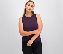 Linda Leal Women's Plain Sleeveless Top, Purple