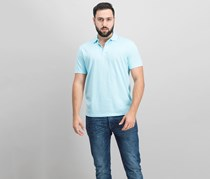 Alfani Men's Chambray Polo, Sea Coast Combo