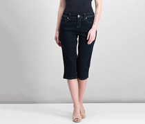 International Concepts Embroidered Curvy Cropped Jeans, Tikglo Wash