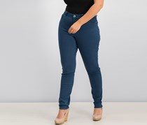 International Concepts Women's Curvy Skinny Jeans, Deep Twilight