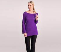 Inc Women's Textured Top, Purple
