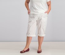 Style & Co Womens Mid Rise Skimmer Comfort Waist Pants, White