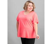 Ideology Plus Size Semi-Fitted Active, Coral Speed