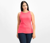 Inc International Concepts Boat-Neck Tank Top, Polished Coral