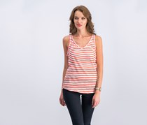 Maison Jules Cotton Striped Tank Top, Bright White