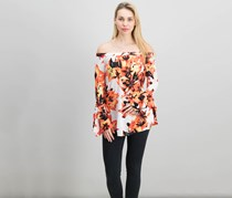 INC International Concepts Off-The-Shoulder Top, Sunset Flowers