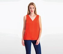Bar III V-Back Tank Top, Optic Orange