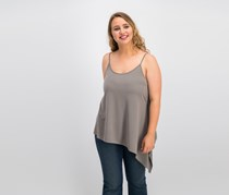 Bar Iii Asymmetrical Tank Top, Hazy Taupe