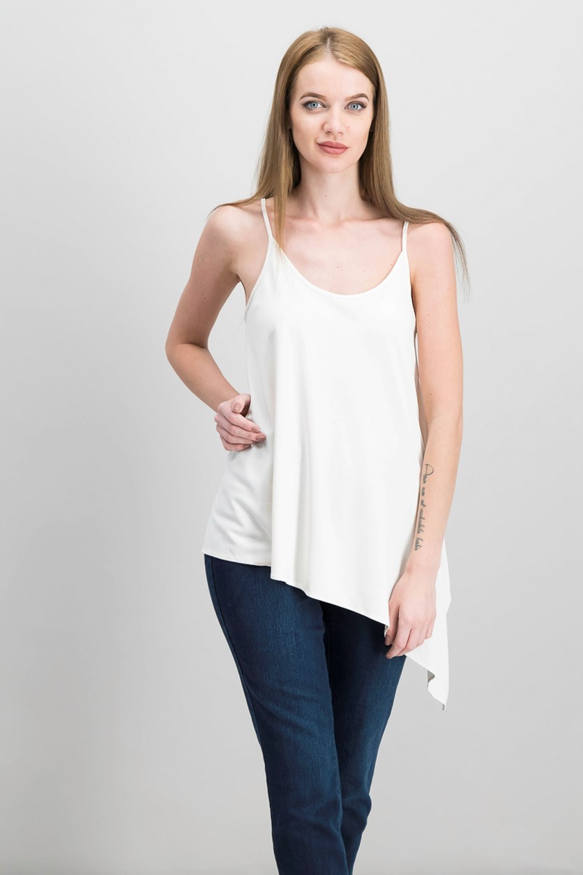 Asymmetrical Tank Top, Just Blush