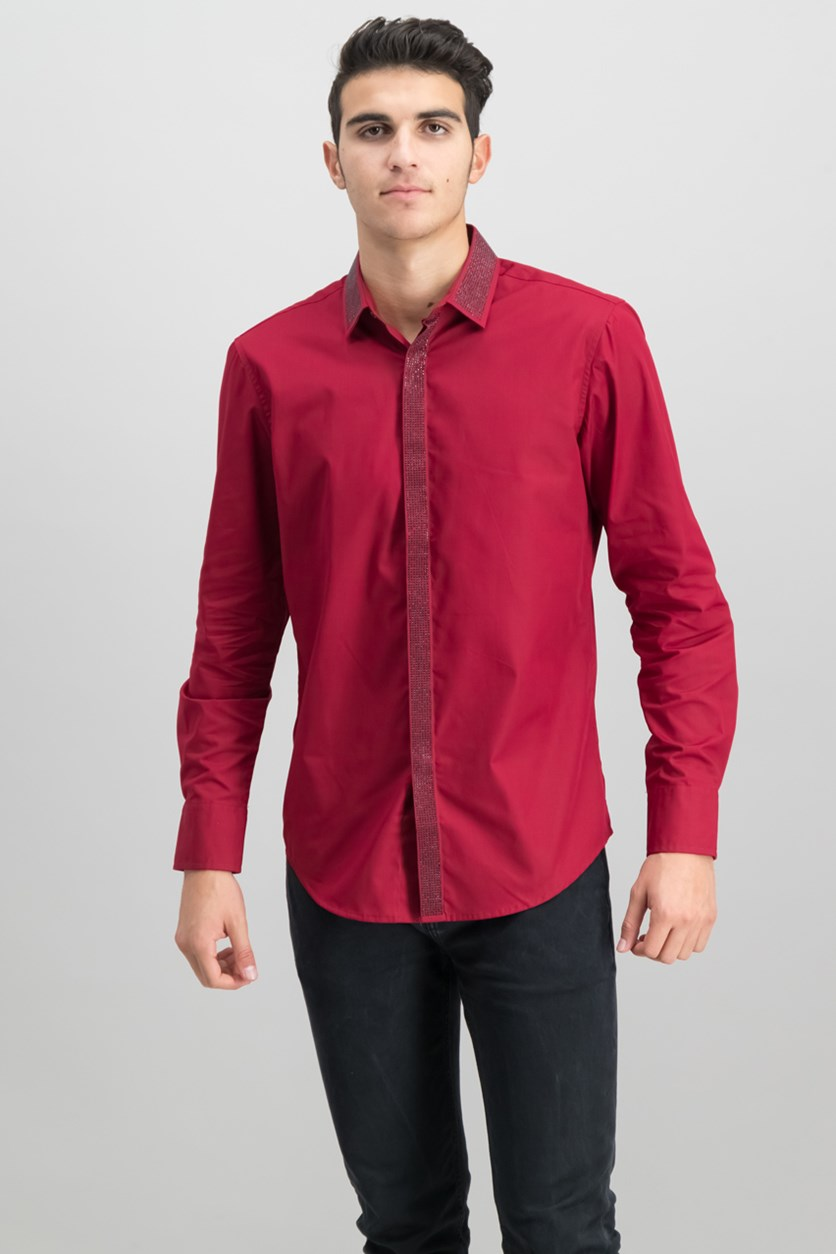 International Concepts Shine Shirt, Dark Red