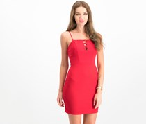City Studios Juniors' Knotted Scuba Bodycon Dress, Red