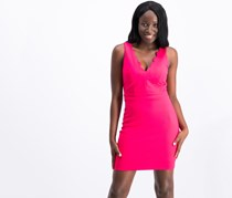 City Studios Juniors Scalloped Bodycon Dress, Bright Pink