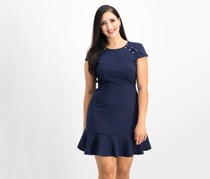 City Studios Juniors Embellished A-Line Dress, Ink