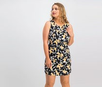 Kasper Floral-Print Sheath Dress, Buff Combo
