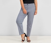 Gingham Tailored Pants, Eclipse/Optic White