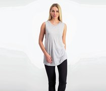 Haute Hippie Wings-Print Crewneck Tank, Light Heather Coal
