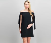 Donna Morgan Audrey Off The Shoulder Shift Dress, Black