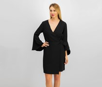 Sam Edelman Women's Faux-Wrap Dress, Black