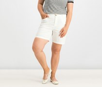 Charter Club Mid-Rise Twill Shorts, Bright White