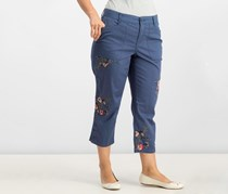 Style Co Embroidered Capri Pants, New Uniform Blue