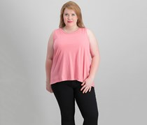 Style & Co Plus Size Cotton High-Low Hem Sleeveless Top, Rose Blossom