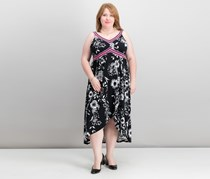 INC Plus Size Printed Midi Dress, Polished Floral