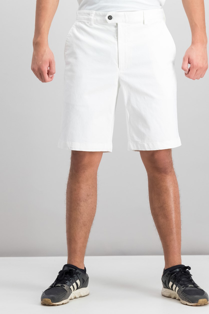 Men's Twill Stretch Shorts, Vintage White