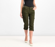 Style & Co Petite Convertible Cargo Pants, Evening Olive