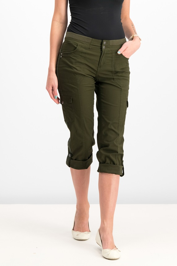46543c773 Style & Co Petite Convertible Cargo Pants, Evening Olive