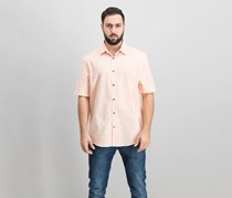 Alfani Men's Grid-Print Shirt, Peachy Keen