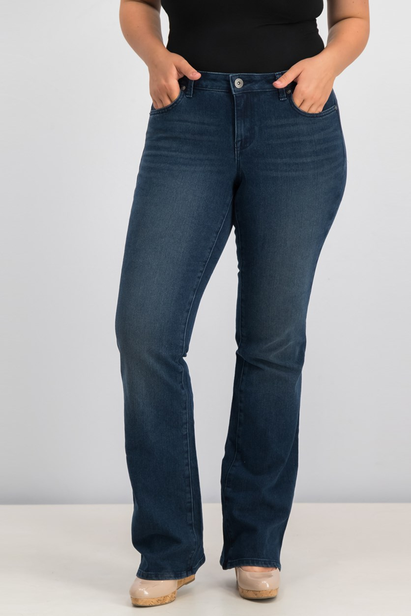 Women's Curvy-Fit Bootcut Jeans, Brand Ford