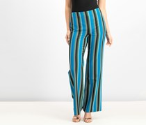 Inc Women's Striped Wide-Leg Pants, Black/Blue