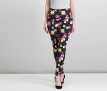 Xoxo Juniors' Floral-Print Pull-On Pants, Black Combo