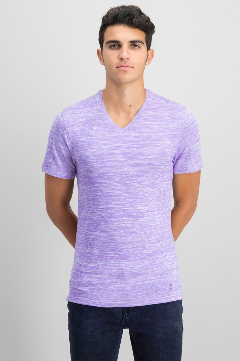 IKE By Ike Behar Men's Space Dye T-Shirt, Purple