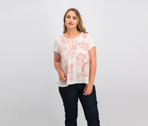 Style & Co. Petite Graphic-print T-shirt, Ivory Heather