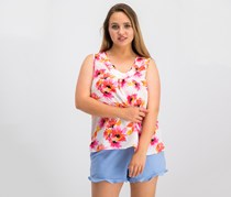 Kasper Women's Floral Cami Top, Pink Perfection