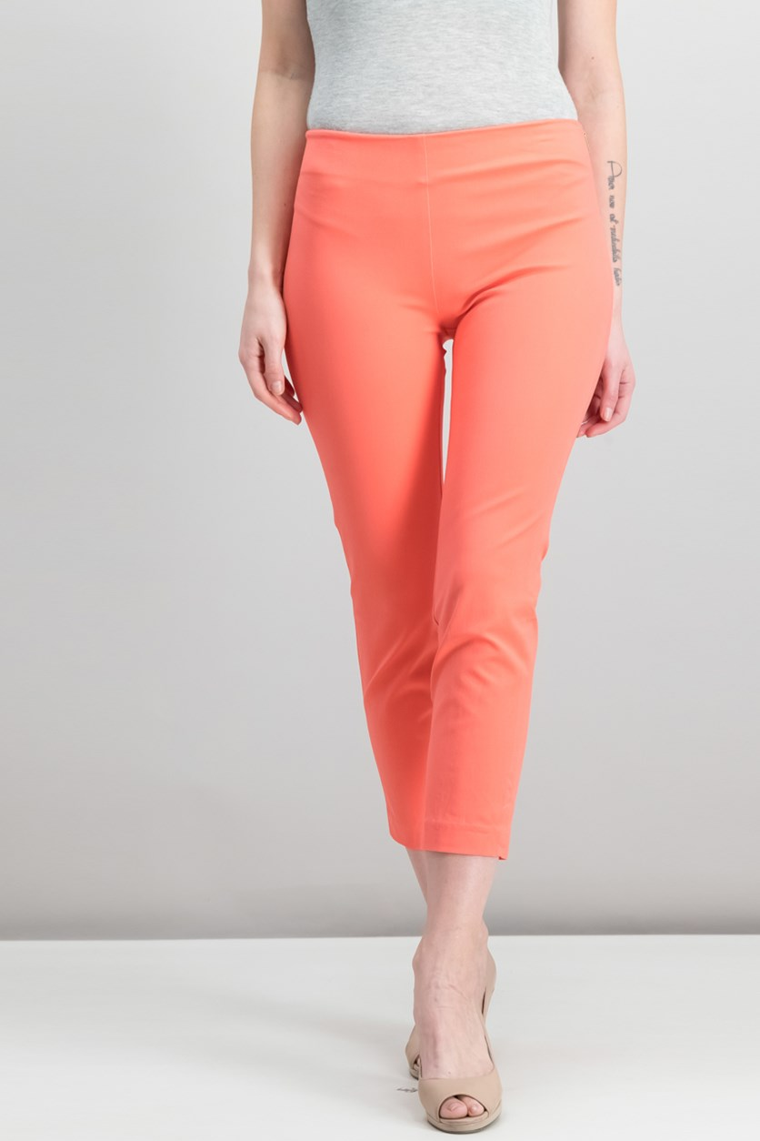 Women's Stretch Cotton Skinny Pants, Orange