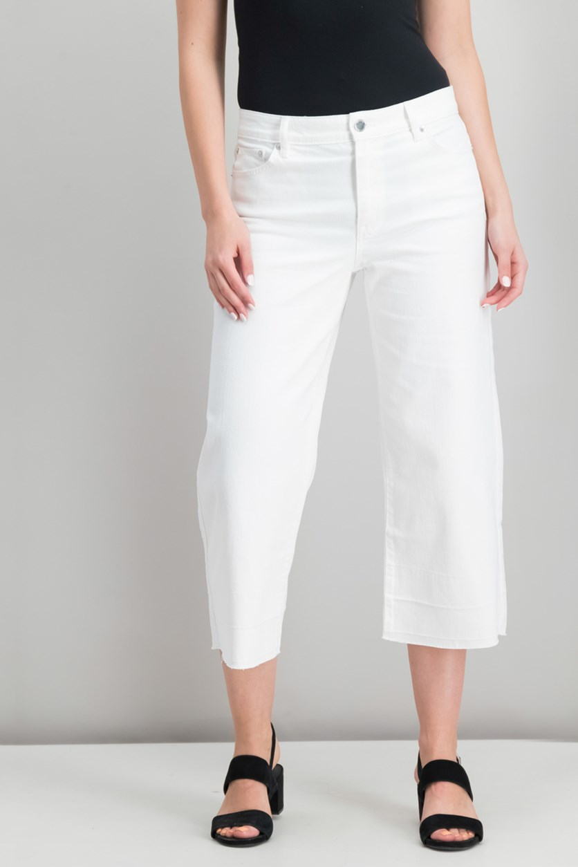 Women's Wide-Leg Jeans, Mineral White