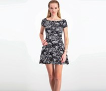 Necessary Objects Women's Printed Dress, Black/White