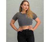 Necessary Objects Women's Crop Top, Black/White