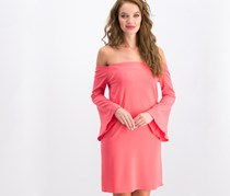 Bar III Women's Off-The-Shoulder Bell-Sleeve Dress, Peony Coral