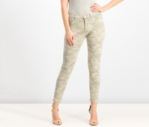 Hudson Nico Mid-Rise Ankle Super Skinny Jeans, Army Camo