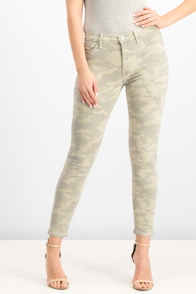 Nico Mid-Rise Ankle Super Skinny Jeans, Army Camo