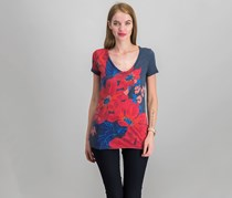 Lucky Brand Floral-Print Tee, American Navy