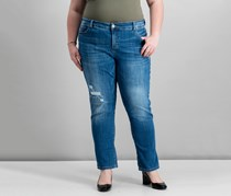 INC International Concepts Plus Size Cuffed Jeans, Birkshire