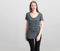Knit Riot Women's Graphic Tee, Charcoal